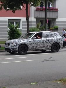 Nieuwe X3 GO1 model 2018 gespot in München Juni 2016