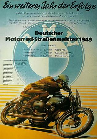 BMW motorcycle advertisements.