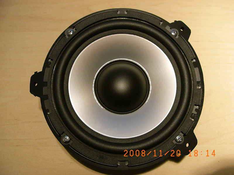 "DLS UP6i woofer mounted in speaker adapter rings from   <a href=""http://www.car-speaker-adapters.com/items.php?id=SAK015""> Car-Speaker-Adapters.com</a>"