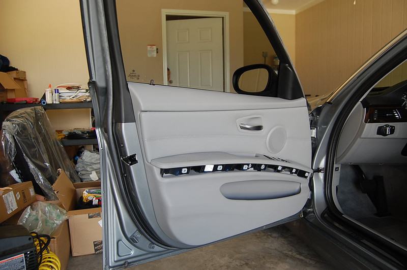 Trim removed on driver side door