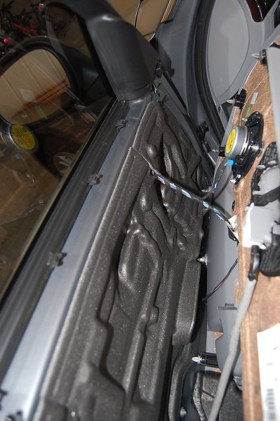Panel separated from driver side door