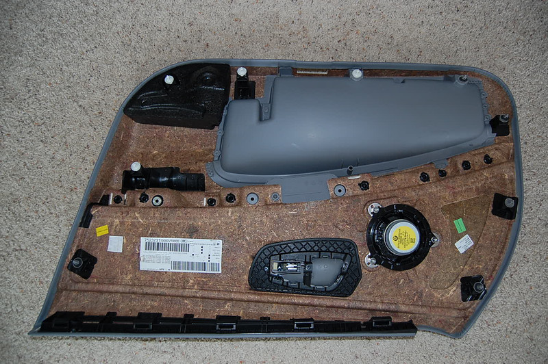 Rear of doro panel after removal