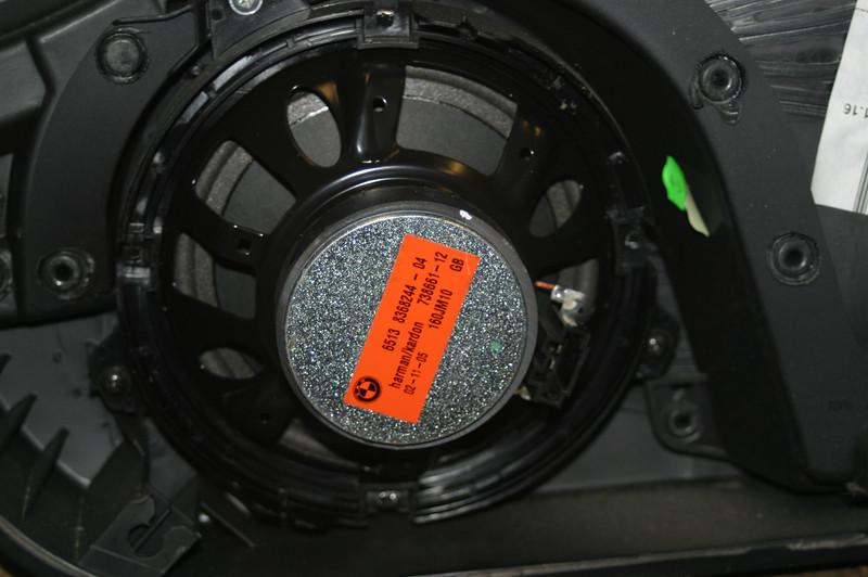 Factory speaker installed in door panel