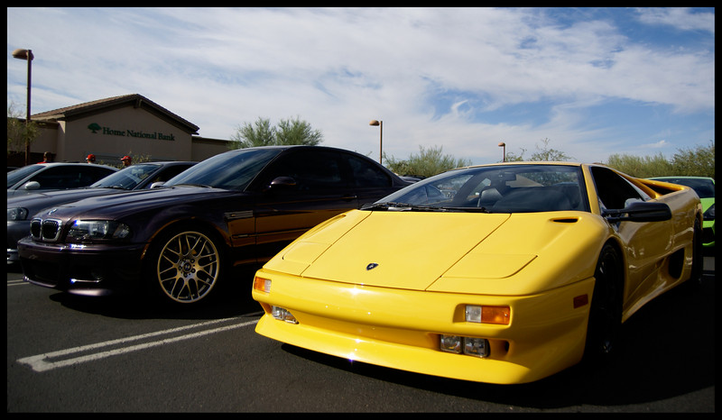Lamborghini Diablo and my M3.