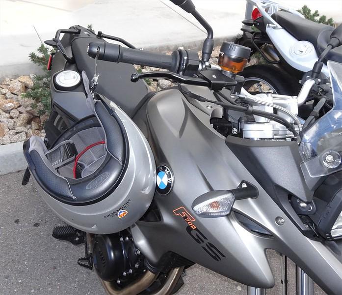 Item 1007-B on a BMW F700GS.