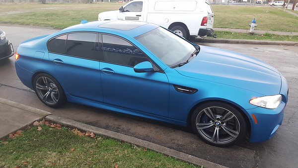Matte Metallic Blue BMW M5