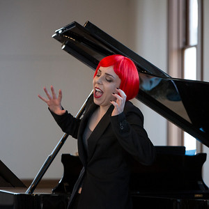 """Sara LeMesh '14, performing arias from """"Le grand macabre"""" Photo: Kevin Fryer"""