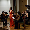 Boya Wei, soprano; Bard Music West Quartet; Allegra Chapman '10<br /> Photo: Kevin Fryer