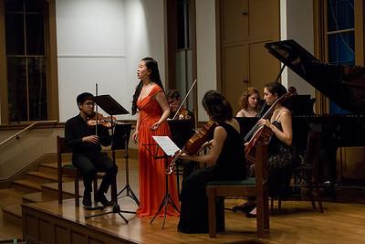 Boya Wei, soprano; Bard Music West Quartet; Allegra Chapman '10 Photo: Kevin Fryer