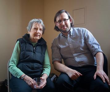 Ruth Ottaway Sherer and Emanuel Evans '10 Photo: Kevin Fryer