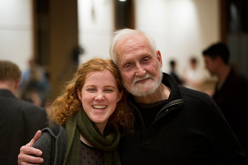Allegra Chapman '10 and Ronald Chase '56<br /> Photo: Kevin Fryer
