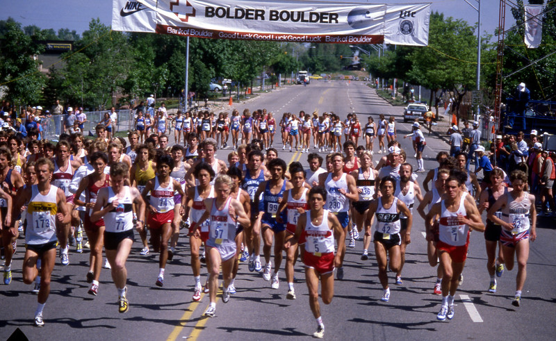 Start of the 1984 Bolder Boulder