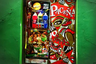 005 Posters La Paz Bolivia © David Bickerstaff