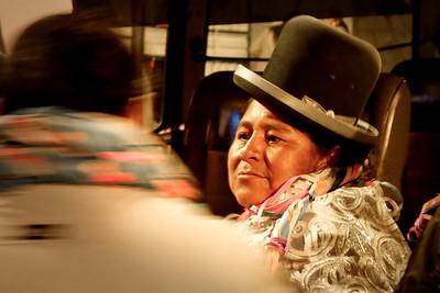 006 Woman in La Paz Bolivia © David Bickerstaff