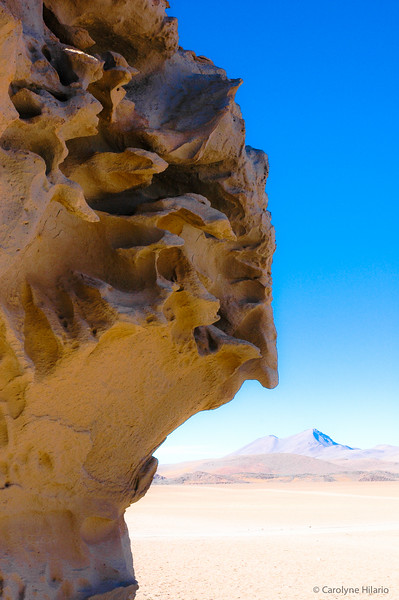 Lava formations of the Desert of Siloli<br /> Salar de Uyuni (Uyuni Salt Desert)
