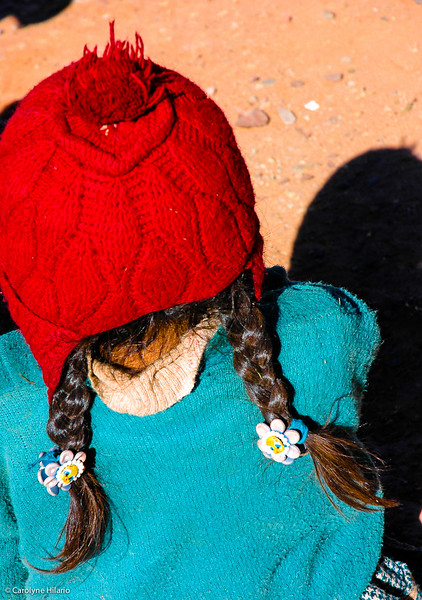 Village Girl<br /> Salar de Uyuni (Uyuni Salt Desert)