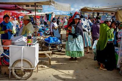 008 Market on the road to Oruro Bolivia © David Bickerstaff