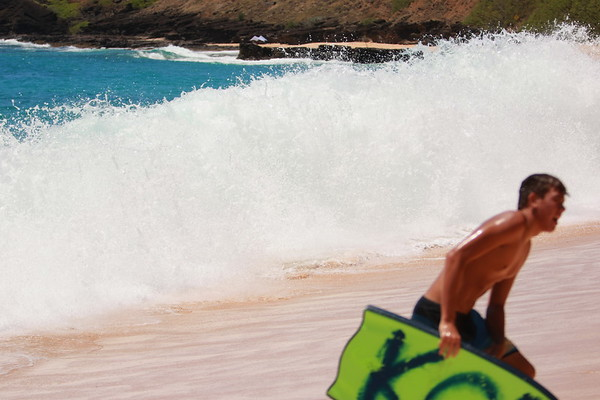 Boogie Boarding Sandy's Beach