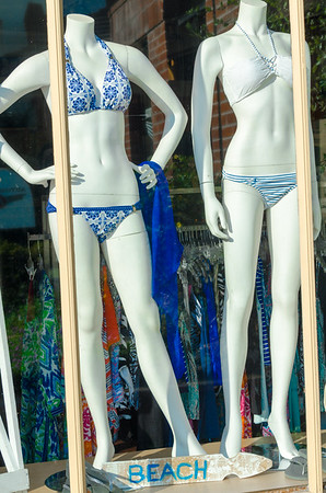Bikinis for sale at a shop in Silicon Valley