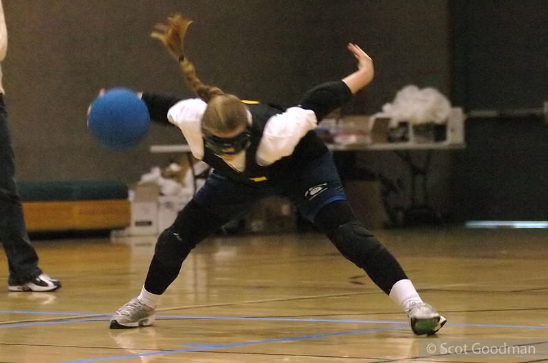 Jessie executing a throw.