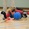 All Goalball players wear eyeshades. No matter the level of eyesight a player may have, all players are required to have zero visibility, eyeshades level visual equality for all players.