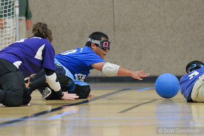 22nd BORP Goalball Invitational, Saturday December 10, 2016, University of California, Berkeley. Photos Copyright 2016 Scot Goodman.   See more of this tournament on smugmug: smu.gs/2hue5E7  BORP - Bay Area Outreach and Recreation Program. Thanks to our sponsors: Nakashima Fine Arts, Ikeda/Greenwood Family, Sue Johnson Custom Lamps & Shades, Vision Faire Optometry, Scot Goodman Photography, Zander Associates Environmental Consultants, Golden Gate Labrador Retriever Rescue.