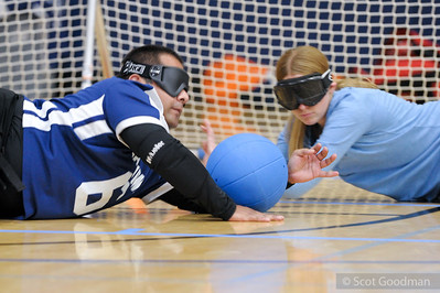 UC Berkeley Goalball Team hosts students from California School for the Blind (Fremont Ca), RSF, UC Berkeley Campus, October 30, 2017. Photos Copyright Scot Goodman.