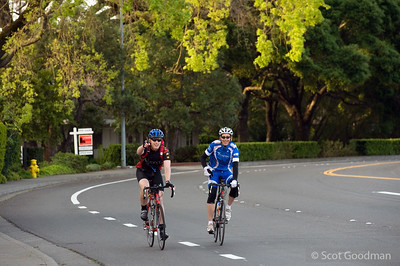 7:10am, Belle Marin Keys Blvd, Ignacio, Mile 13.80. John Ormsby (right) joins Lee for the first several hours of his ride Saturday morning. Many of you will know John through his years of support and work for BORP.