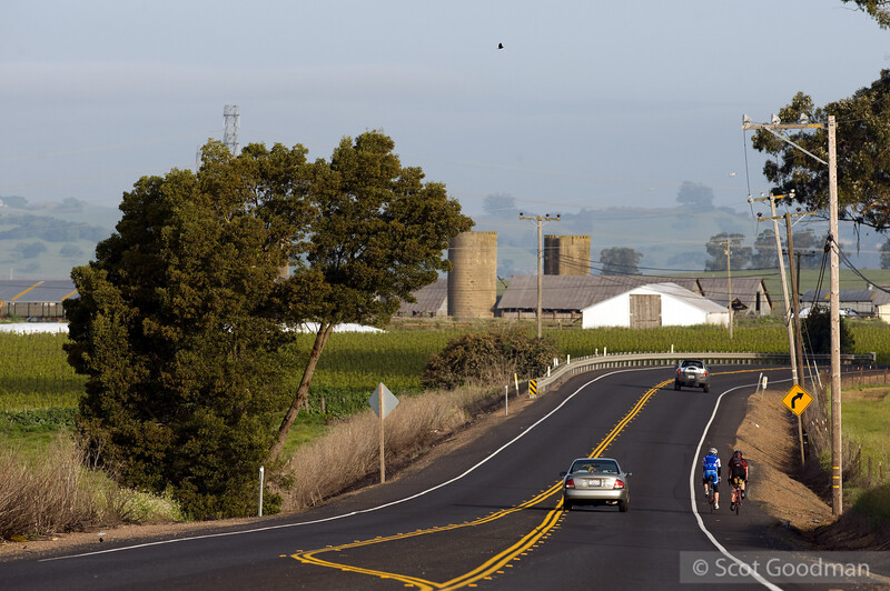 7:45am, Lakeville Hwy, Petaluma. Mile 27.