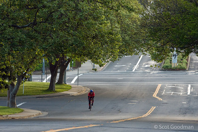 6:56 am, corner of Columbus Parkway and Georgia Street, Vallejo. Mile 254.