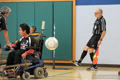 Power Soccer Tournament, hosted by BORP (Bay Area Outreach and Recreation Program), Sunday, November 12, 2017, Berkeley Ca. Teams featured here: BORP Crushers, BORP Bombers, San Jose Steamrollers, and the Central Valley Ghostriderz. More info: borp.org. powersoccerusa.org. Photos Copyright Scot Goodman.