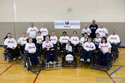 USA National Power Soccer Team Training Atlanta