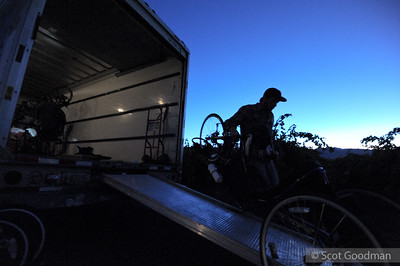 6:00am, Saturday, September 28, Trentadue Winery, near Geyserville, California. Long before the sun comes up, Greg Milano's corps of volunteers is hard at work. Up to two hundred cyclists will peddle numerous guided bike routes through the vineyards of Sonoma County. Routes are designed to accommodate riders of all abilities.