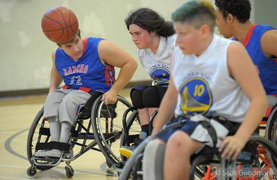2015 BORP Bay Area Invitational Junior Wheelchair Basketball Tournament. Berkeley, California. Jan 10-11. Photo ©Scot Goodman.