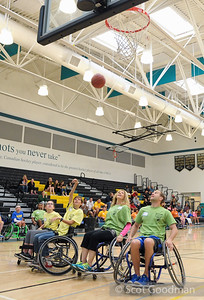 Gilroy Roll and Shoot Fundraiser benefitting BORP Youth Sports, Christopher High School, Gilroy, California. April 16, 2016.   Teams of able-bodied players use sport wheelchairs to play 3 on 3 games. Teams are coached by BORP's Junior Road Warriors Varsity Wheelchair Basketball Team. As of this writing the event raised over $6000. The Gilroy Roll and Shoot would not be possible without phenomenal efforts of Susan Rodriguez and her family. Many thanks to the parents, businesses, volunteers and players for their support. Information: borp.org, @Bay Area Outreach and Recreation Program (BORP), and @Gilroy Roll n Shoot.   See all the photos by clicking on the album title. All Photos Copyright Scot Goodman.