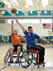 Gilroy Roll and Shoot Fundraiser benefitting BORP Youth Sports, Christopher High School, Gilroy, California. April 16, 2016. <br /> <br /> Teams of able-bodied players use sport wheelchairs to play 3 on 3 games. Teams are coached by BORP's Junior Road Warriors Varsity Wheelchair Basketball Team. As of this writing the event raised over $6000. The Gilroy Roll and Shoot would not be possible without phenomenal efforts of Susan Rodriguez and her family. Many thanks to the parents, businesses, volunteers and players for their support. Information: borp.org, @Bay Area Outreach and Recreation Program (BORP), and @Gilroy Roll n Shoot. <br /> <br /> See all the photos by clicking on the album title. All Photos Copyright Scot Goodman.
