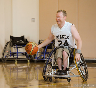On Sunday, April 3 BORP joined the San Jose Thunder, San Jose Quakes and San Jose Spartans for a wheelchair basketball exhibition game and clinic on the Stanford campus. The event had a very positive response and hopefully more sports events and opportunities will develop at Stanford and the surrounding communities. Photos © Scot Goodman.