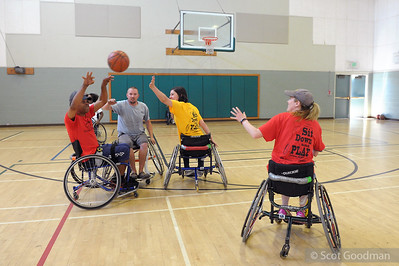 Community Roll n' Shoot, hosted by BORP Youth Sports and Wheelchair Basketball, Berkeley Ca, June 18, 2016. borp.org.   More BORP Wheelchair Basketball: http://smu.gs/23jZ3SD  Photos Copyright 2016 Scot Goodman. For personal use only. No other use without written permission.