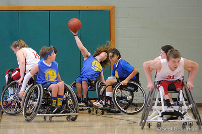 Parasport Spokane vs. BORP Junior Road Warriors, Saturday March 5.  2016 West Coast Junior Conference Championships, March 5-6, Berkeley California. Photos Copyright 2016 Scot Goodman.