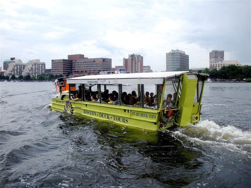 Duck's Tour of the St. Charles Waterway, Boston, MA