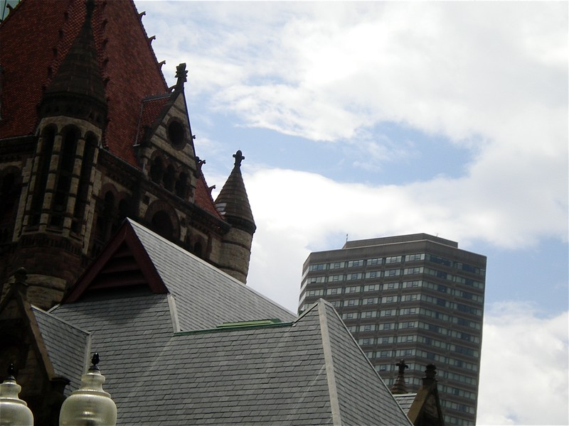 Buildings, Churches and Monuments along the St. Charles Waterway, taken during Duck's Tour, Boston, MA