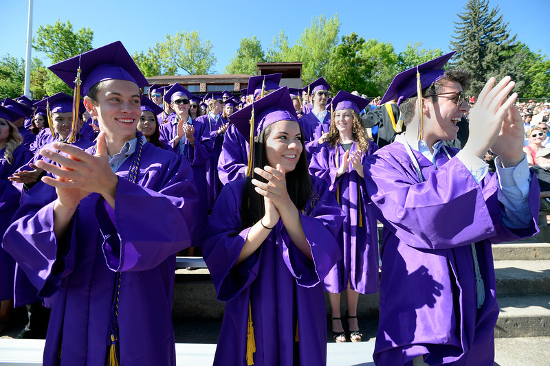 Commencement ceremonies at Boulder High School on Saturday.