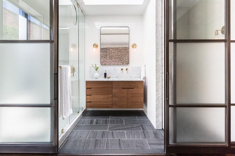 Open Glass Bathroom Hoboken
