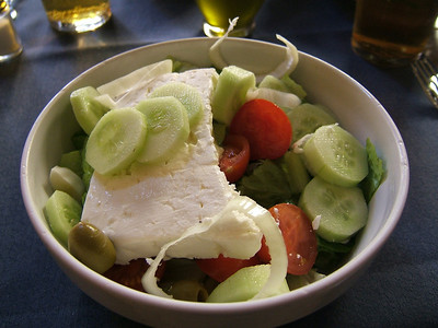 Greek Salad from a great little cafe near Vatican City (Rome, Italy)