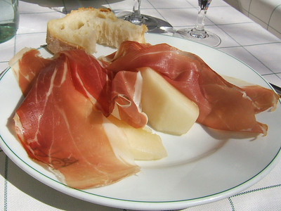 Mellon and Prosciutto