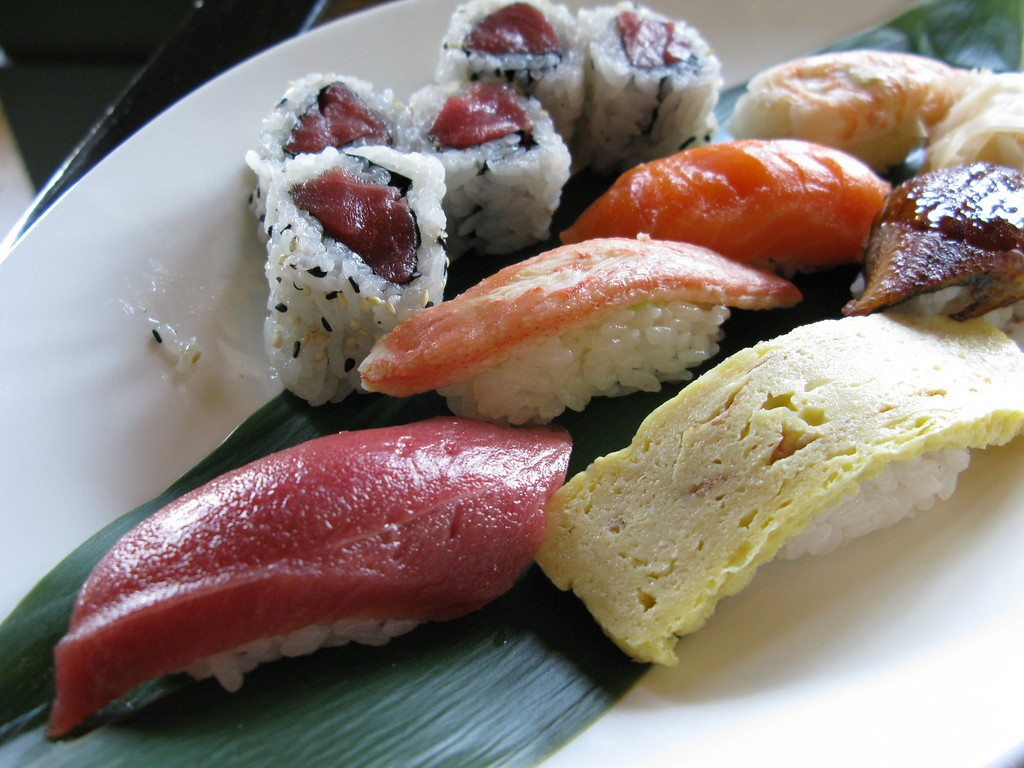 Sushi at Morimoto, in the Taj Palace Hotel (Mumbai, India).  This was the same hotel that was heavily damaged in the terrorist attacks in late 2008.