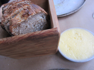 Home made bread with home made butter