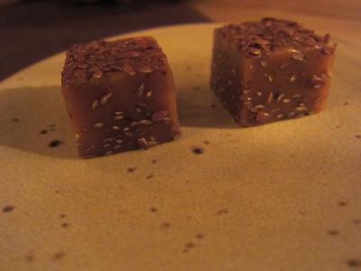 Flax seed caramel