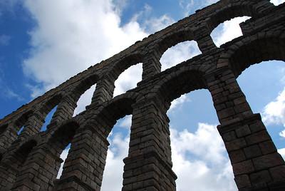 Roman Arch in Segovia circa 100-200 AD