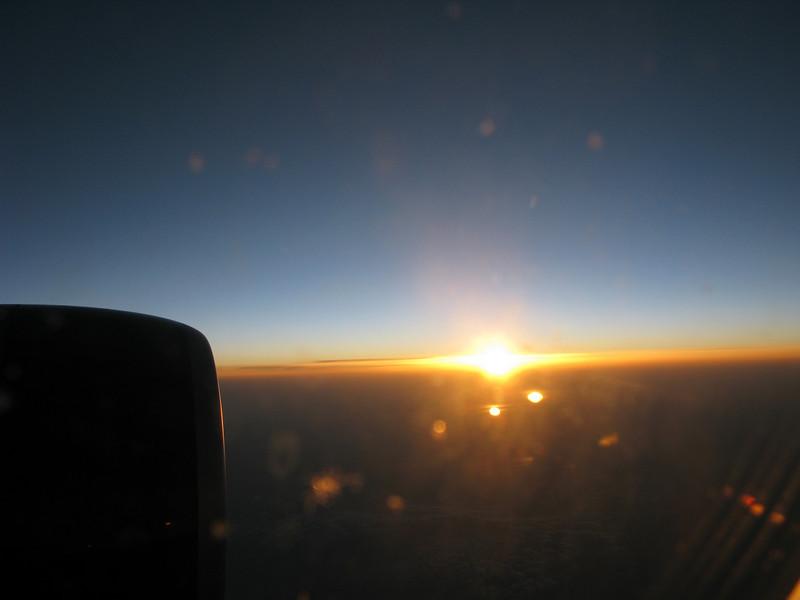 Sunrise over Pakistan